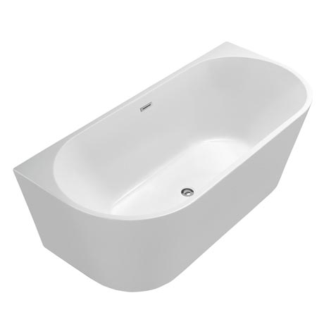 Apollo Back To Wall Modern Curved Bath (1700 x 780mm)