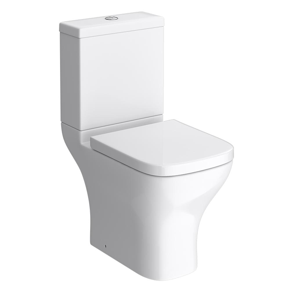 Apollo Modern Short Projection Toilet Inc. Soft Close Seat Large Image