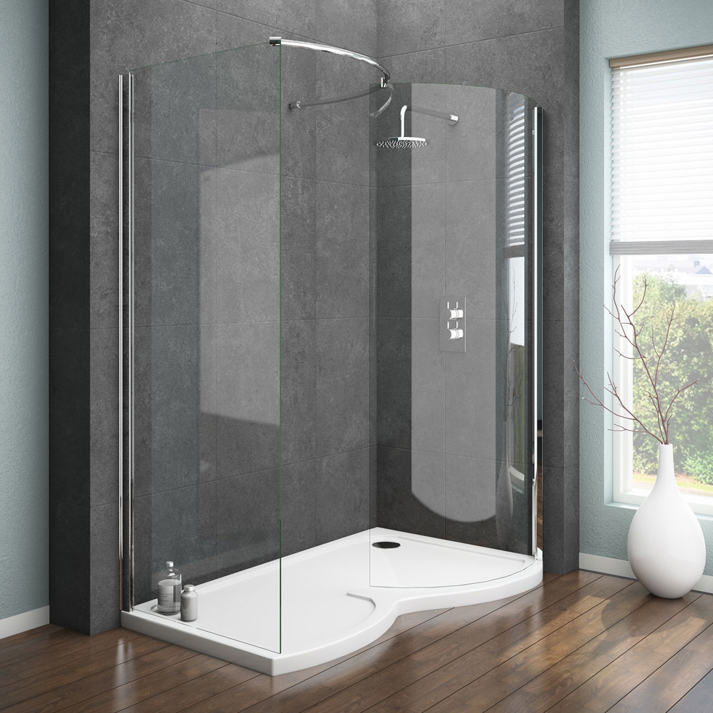 Apollo Curved Walk In Shower Enclosure | 8 Contemporary Bathroom Ideas