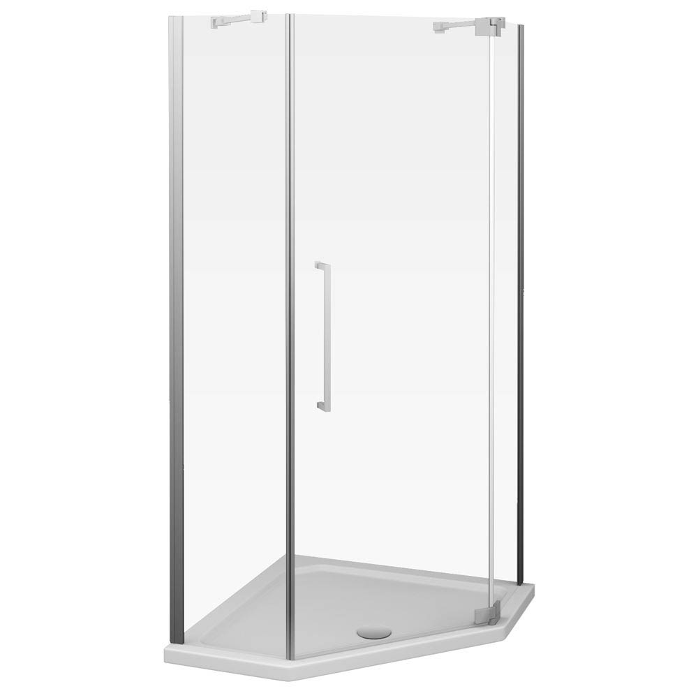 Apollo 1100x1100mm Frameless Diamond Enclosure (Inc. Tray + Waste)  Profile Large Image