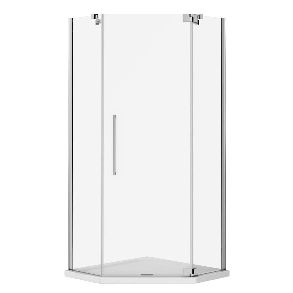 Apollo 1100x1100mm Frameless Diamond Enclosure (Inc. Tray + Waste)  Feature Large Image