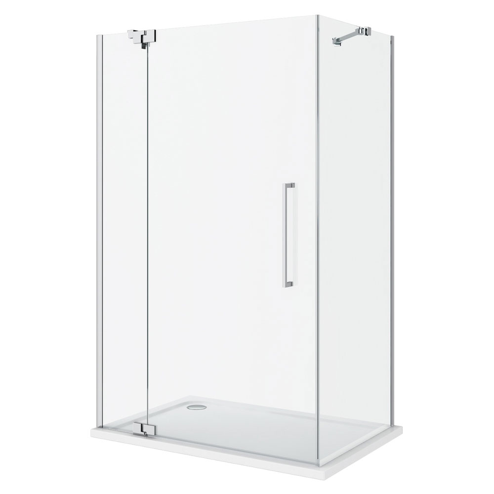 Apollo Frameless Hinged Door Rectangular Enclosure - L/H Opening Profile Large Image
