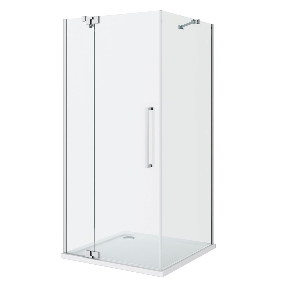 Apollo Frameless Hinged Door Square Enclosure - L/H Opening Profile Large Image
