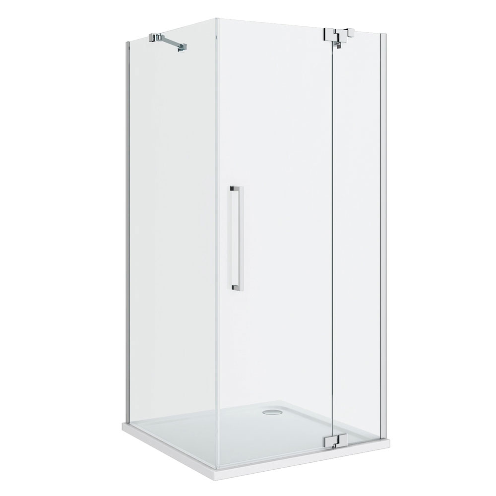 Apollo Frameless Hinged Door Square Enclosure - R/H Opening Profile Large Image