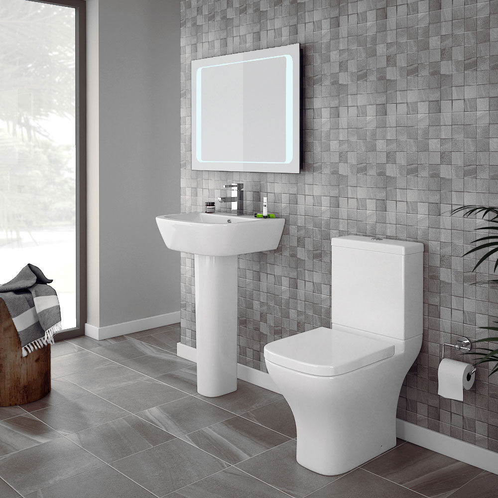 Apollo Modern Short Projection Toilet Inc. Soft Close Seat Profile Large Image