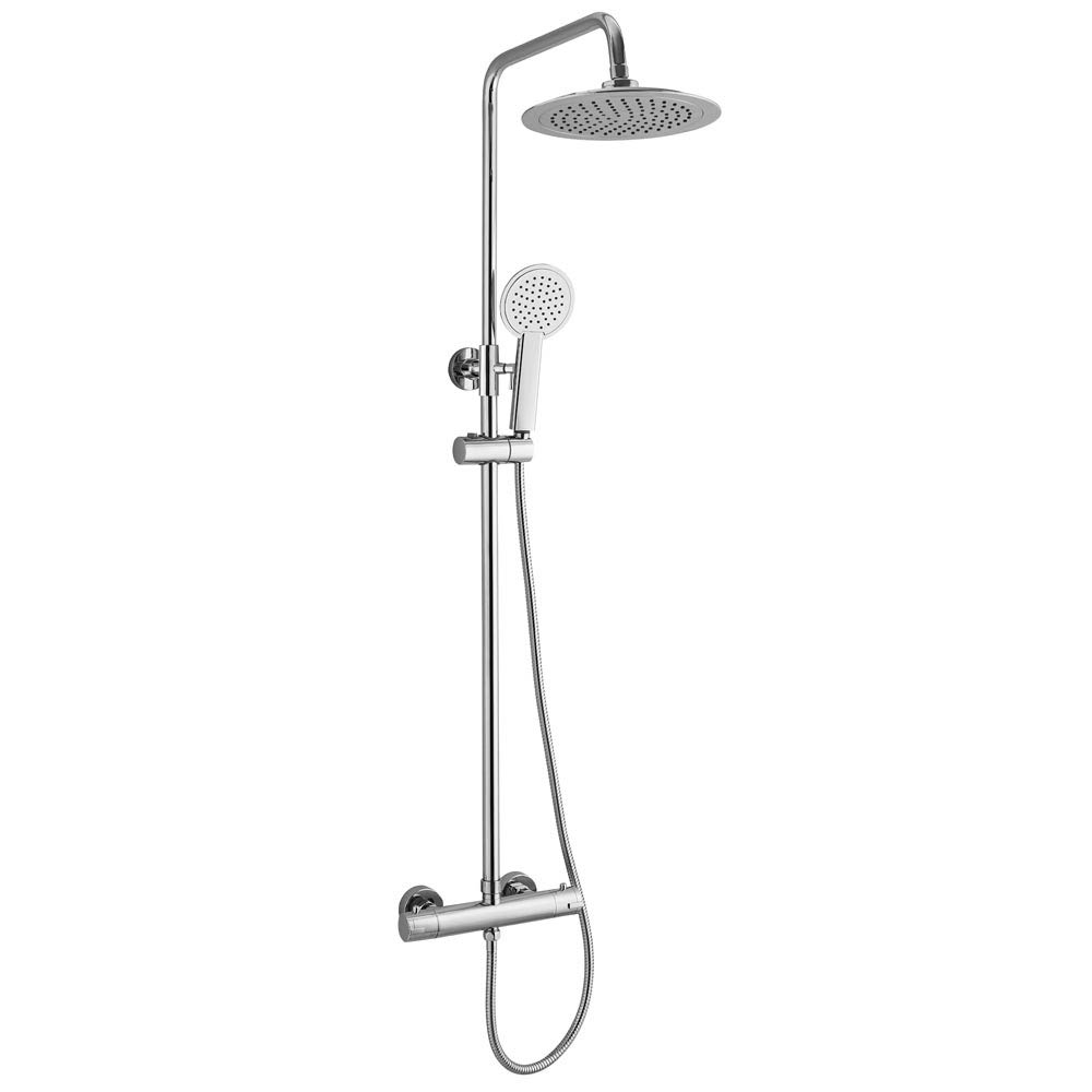 Apollo Modern Thermostatic Shower - Chrome Large Image