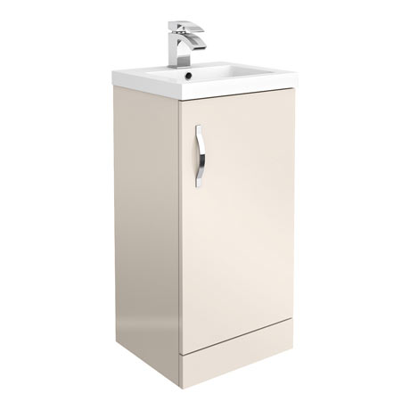 Apollo2 405mm Gloss Cashmere Floor Standing Vanity Unit