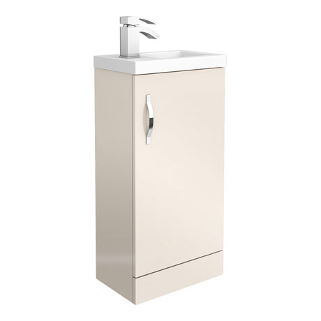 Apollo2 405mm Gloss Cashmere Compact Floor Standing Vanity Unit