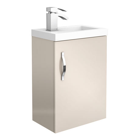 Apollo2 405mm Gloss Cashmere Compact Wall Hung Vanity Unit