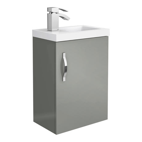Apollo2 405mm Gloss Grey Compact Wall Hung Vanity Unit