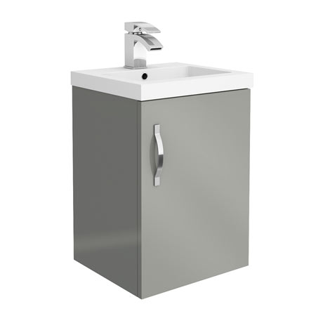 Apollo2 405mm Gloss Grey Wall Hung Vanity Unit