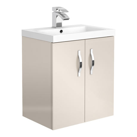Apollo2 505mm Gloss Cashmere Wall Hung Vanity Unit