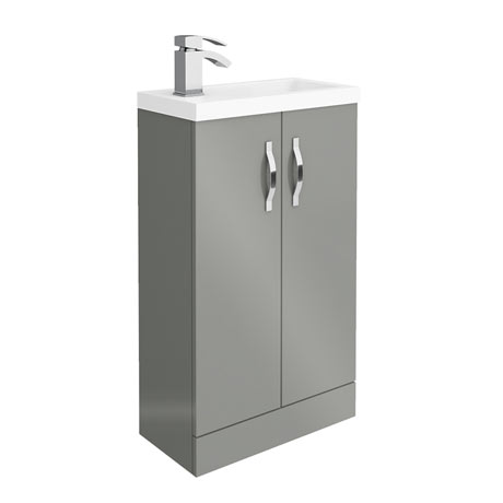 Apollo2 505mm Gloss Grey Compact Floor Standing Vanity Unit