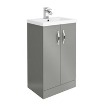 Apollo2 505mm Gloss Grey Floor Standing Vanity Unit Medium Image