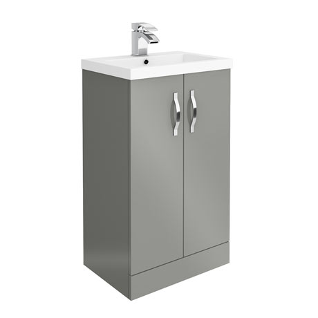 Apollo2 505mm Gloss Grey Floor Standing Vanity Unit