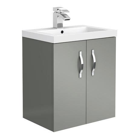 Apollo2 505mm Gloss Grey Wall Hung Vanity Unit