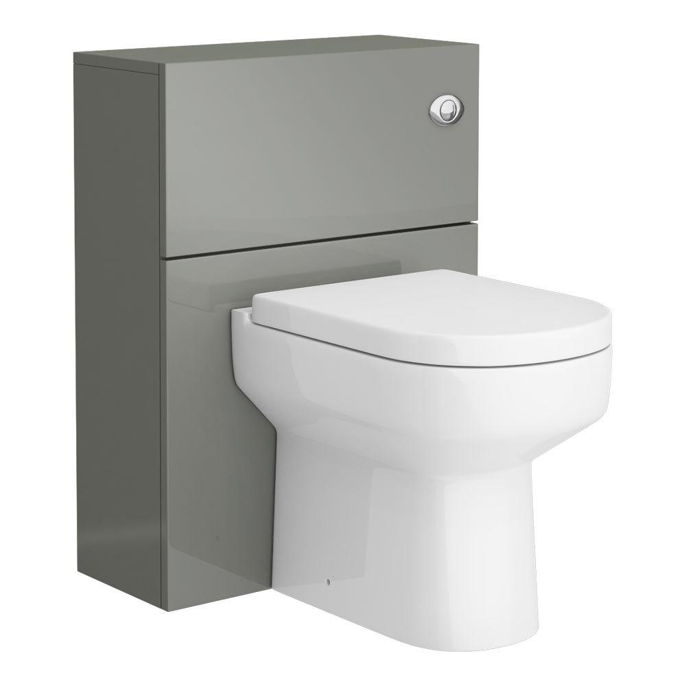 Apollo2 600mm Gloss Grey WC Unit | Victorian Plumbing UK