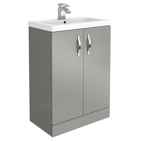 Apollo2 605mm Gloss Grey Floor Standing Vanity Unit