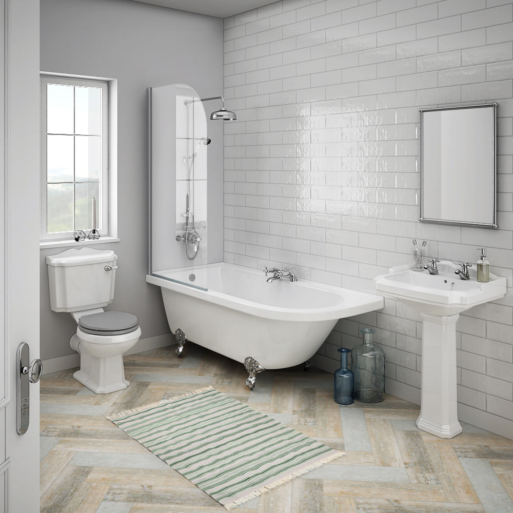 Appleby lh traditional bathroom suite victorian plumbing uk for Bathroom ideas uk