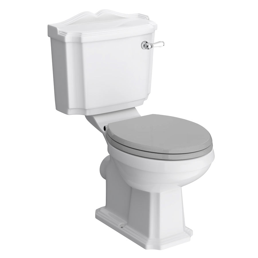 Appleby Traditional Close Coupled Toilet + Soft Close Seat Large Image