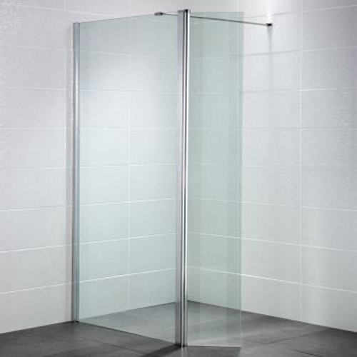 April - Identiti² Wetroom Screen with Return Panel - Clear - Various Size Options Large Image