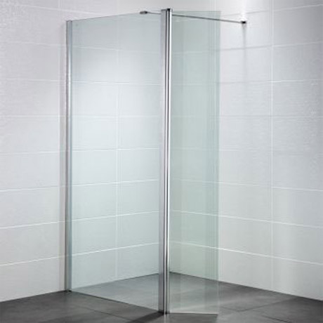 April - Identiti² Wetroom Screen with Return Panel - Clear - Various Size Options