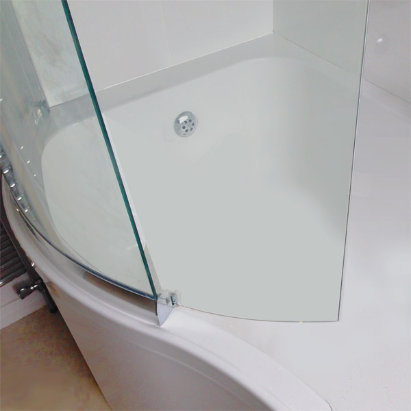 April P Shape Sliding Bath Screen - Left or Right Hand Option profile large image view 4