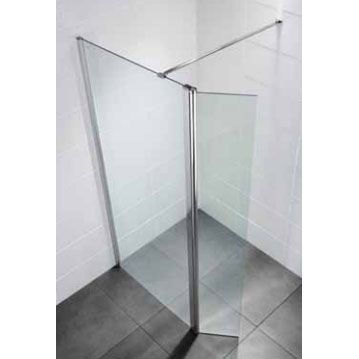 April - Identiti² Wetroom Screen with Return Panel - Clear - Various Size Options profile large image view 2