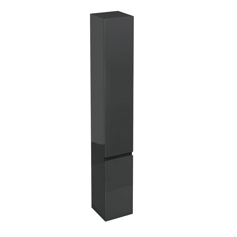 Aqua Cabinets - H1900mm x D300mm Tall Unit - Black Large Image