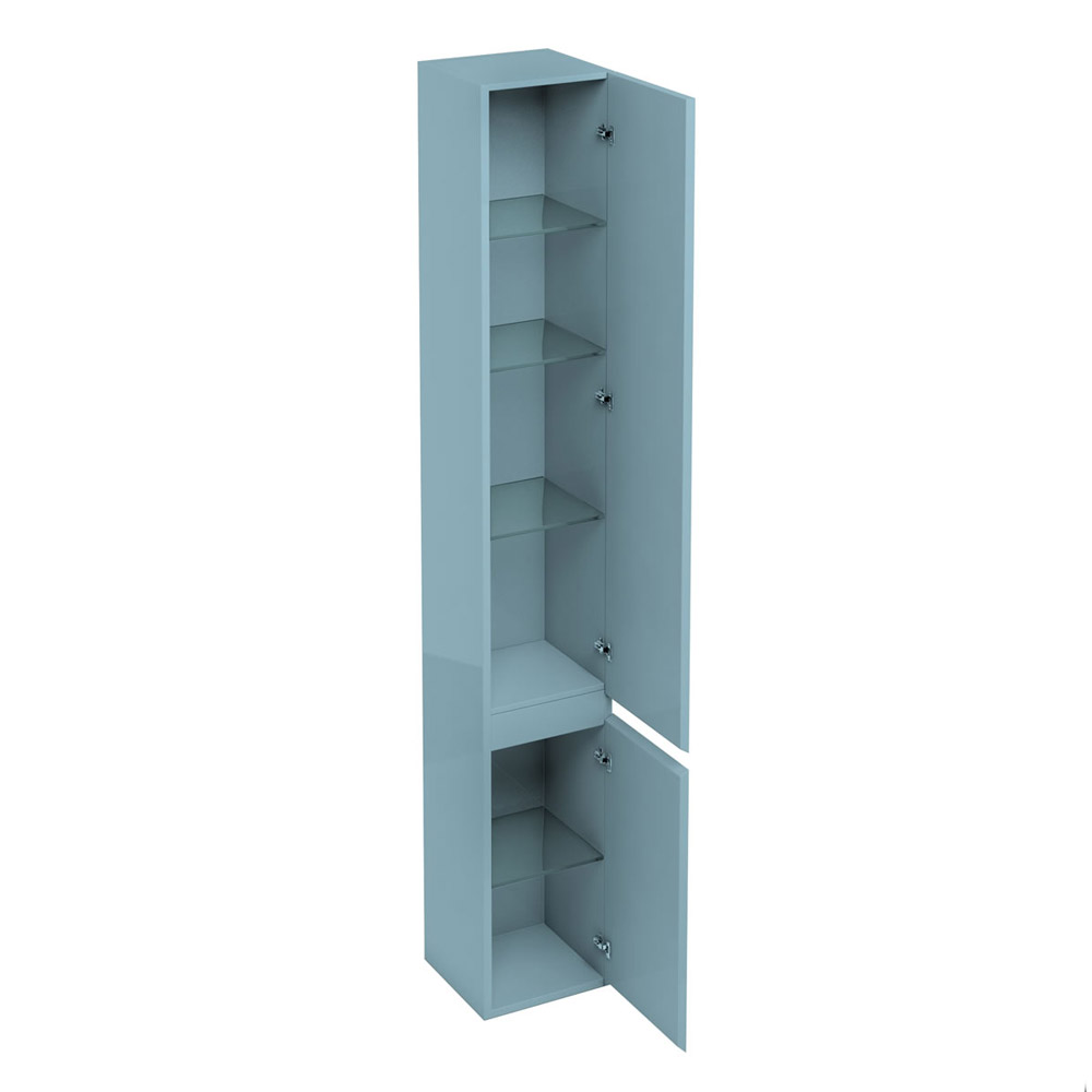 Aqua Cabinets - H1900mm x D300mm Tall Unit with Mirror - Ocean profile large image view 2