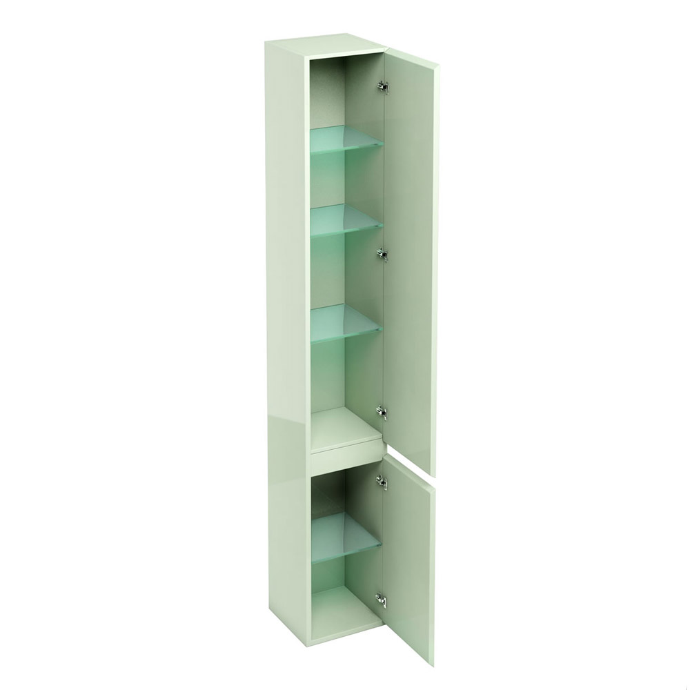 Aqua Cabinets - H1900mm x D300mm Tall Unit with Mirror - Reef profile large image view 2