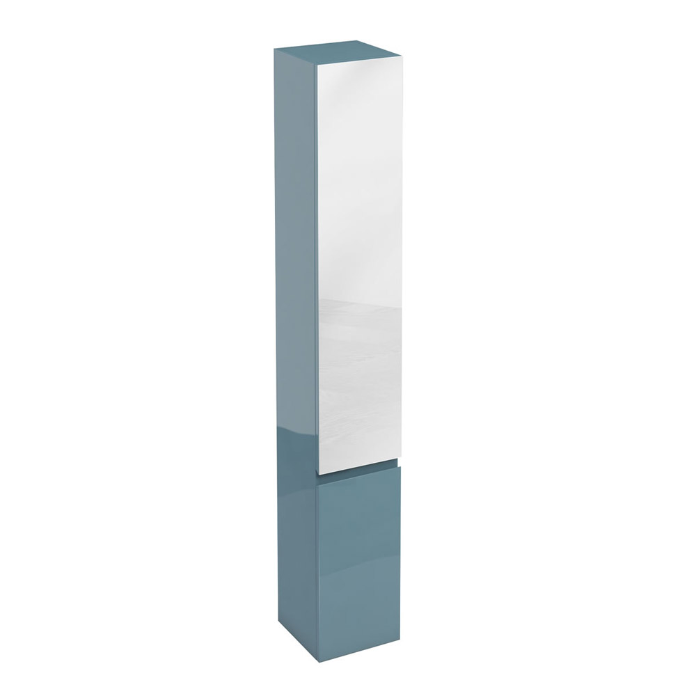 Aqua Cabinets - H1900mm x D300mm Tall Unit with Mirror - Ocean profile large image view 1