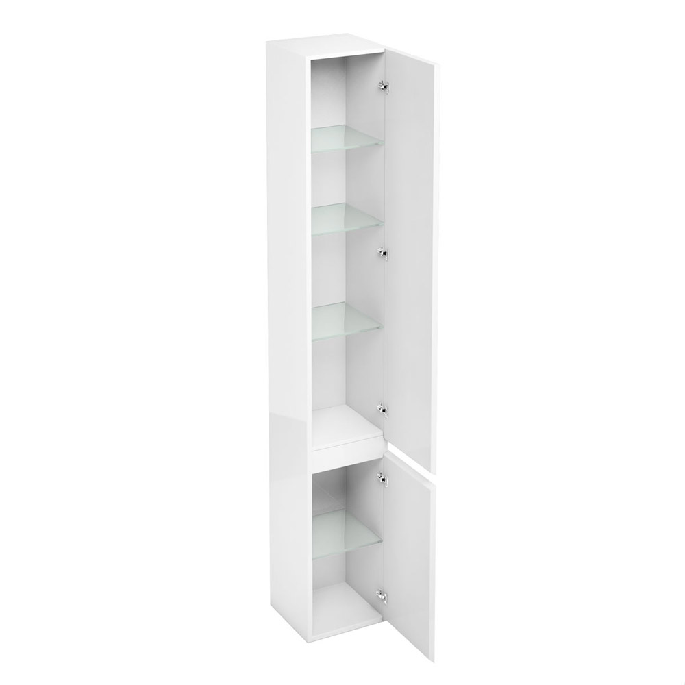 Aqua Cabinets - H1900mm x D300mm Tall Unit - White profile large image view 2