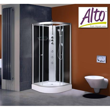 AquaLusso - Alto 01 - 800 x 800mm Shower Cabin - Carbon Black