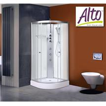 AquaLusso - Alto 02 - 900 x 900mm Shower Cabin - Polar White Medium Image