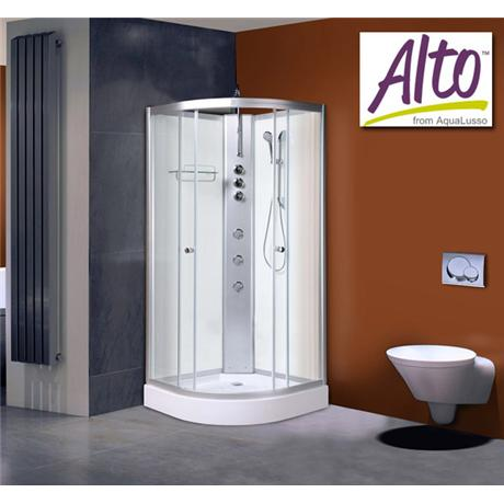 AquaLusso - Alto 02 - 900 x 900mm Shower Cabin - Polar White
