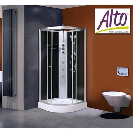 AquaLusso - Alto 02 - 900 x 900mm Shower Cabin - Carbon Black