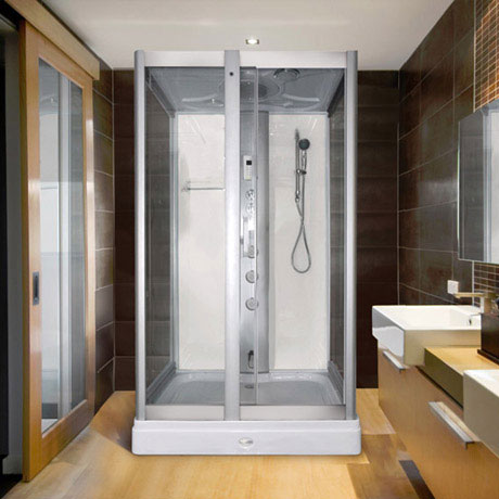 AquaLusso - Alto 50 - 1200mm x 900mm Steam Shower - Polar White