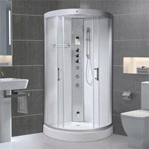 AquaLusso - Alto 95 - 950 x 950mm Quadrant Steam Shower - Polar White Medium Image