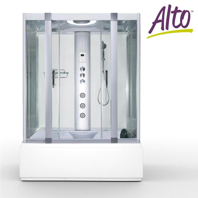 AquaLusso Alto W1 Steam and Whirlpool Bath - Polar White  - Create a spa-like experience in your own home and enjoy body jets and a whirlpool bath. | 14 Fresh Shower Ideas