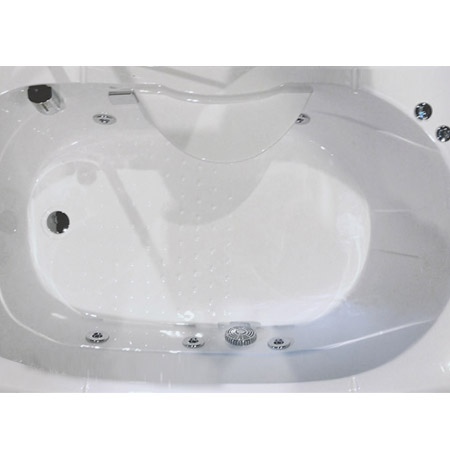 AquaLusso - Alto W2 - 1500 x 900mm Steam and Whirlpool Bath - Polar White profile large image view 3
