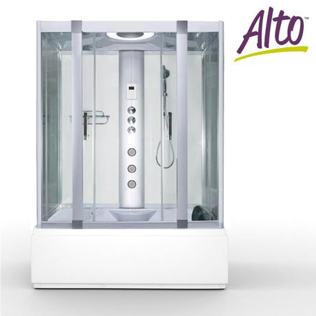AquaLusso - Alto W2 - 1500 x 900mm Steam and Whirlpool Bath - Polar White