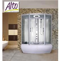 AquaLusso - Alto W3 - 1700 x 900mm Steam and Whirlpool Bath - Polar White Medium Image