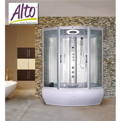 AquaLusso - Alto W3 - 1700 x 900mm Steam and Whirlpool Bath - Polar White