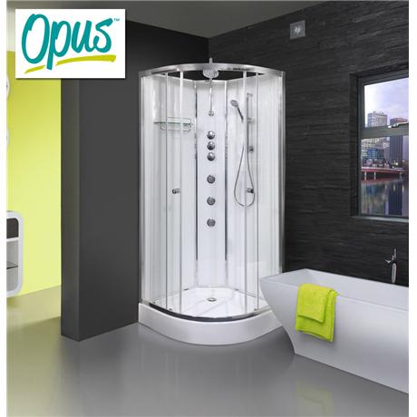 AquaLusso - Opus 02 - 900mm x 900mm Shower Cabin - Polar White