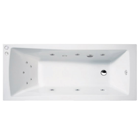 Aquastream Whirlpools - 11 Jet Aquaspa Square Single Ended Acrylic Bath - Various Size Options profile large image view 1