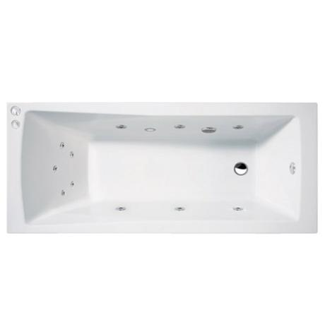 Aquastream Whirlpools - 11 Jet Aquaspa Square Single Ended Acrylic Bath - Various Size Options