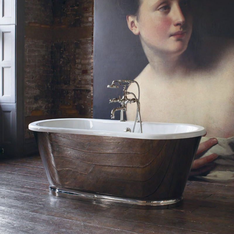 Arcade Albermarle Freestanding Bath - 1690 x 745mm profile large image view 1