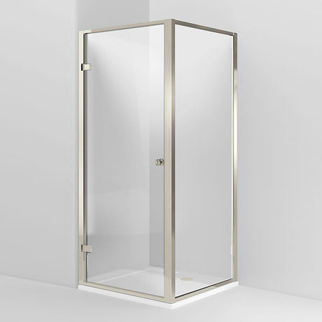 Arcade Hinged Shower Door & Side Panel - Nickel - Various Size Options