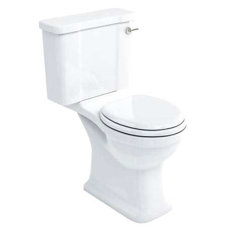 Arcade Open Back Close Coupled Traditional Toilet - Lever Flush